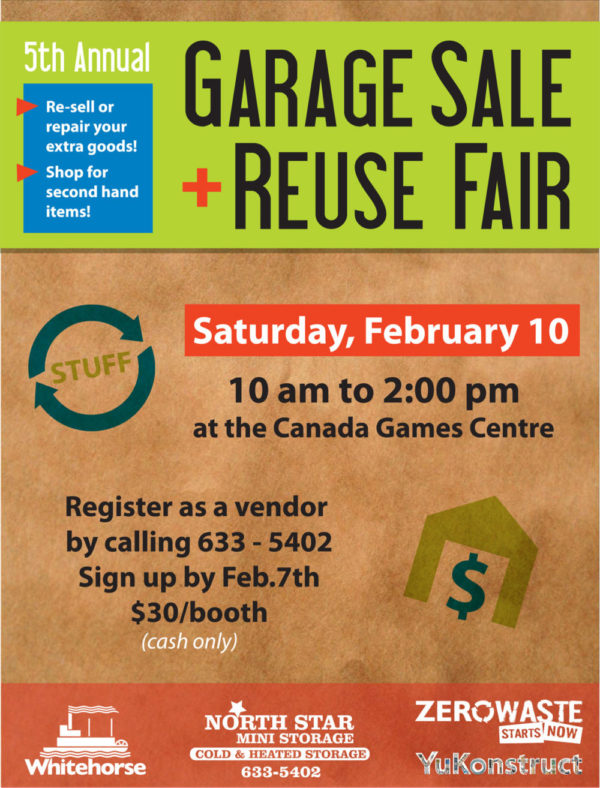 Indoor Community Garage Sale + Reuse Fair: February 10th, 2018